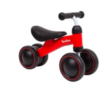 Bicicleta de Equiibrio 4 Rodas Vermelho - Buba
