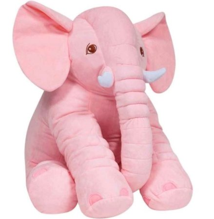 Almofada de Elefante Gigante Rosa - Buba