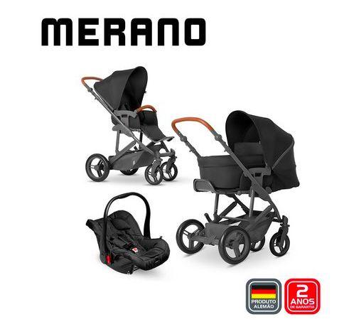 Carrinho de Bebê ABC Design - Merano 4 Woven Black Trio