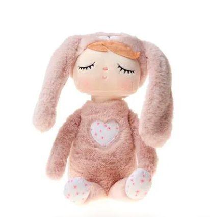 Boneca Angela Plush Ana Coelha Rosa 33cm - Metoo