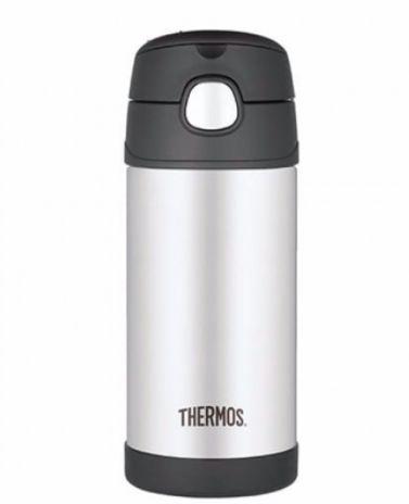Garrafa térmica thermos Funtainer preto e inox- 355ml