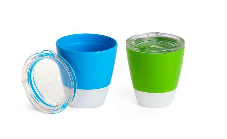 Conjunto com 2 Copos com Tampa Azul e Verde (Splash Toddler Cups) - Munchkin
