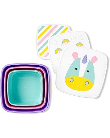 Kit com 3 Porta Snacks Zoo Unicornio - Skip Hop