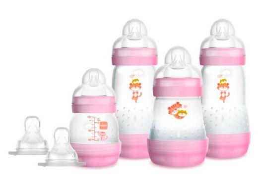 Kit Mamadeira MAM Easy Start First Bottle Anti-Cólica e Auto-Esterilizáveis Menina