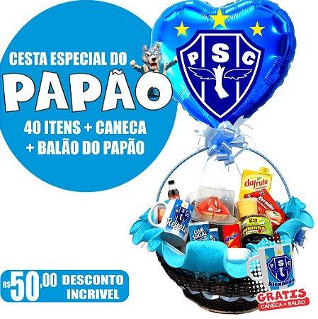 Cesta do Paysandu 40 Itens + Balão + Caneca