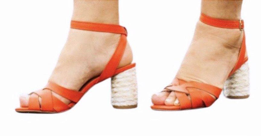 Sandália Salto Bloco