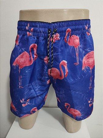 Short em Microfibra Flamingo - Azul