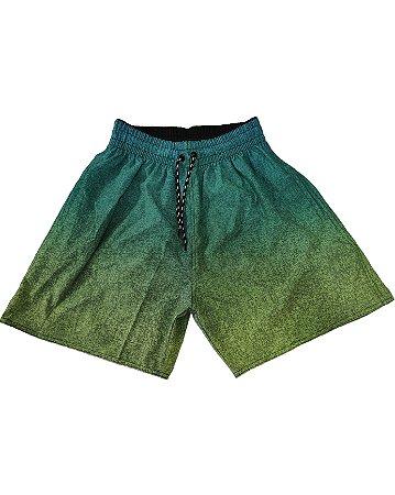 Short Microfibra com Elastano Degrade Verde