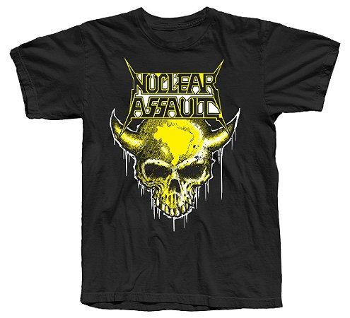 NUCLEAR ASSAULT - Camiseta Oficial - Tour 2019 (Modelo 3)