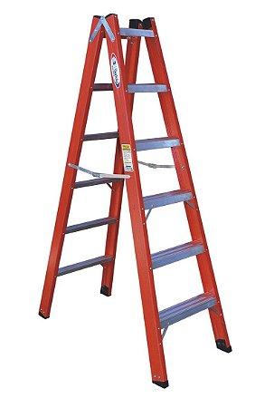 Escada Fibra Pintor 06 Degraus - 1,80m (W.Bertolo)