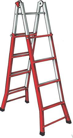Escada Aço Telescópica 4,10 m (Zeus)