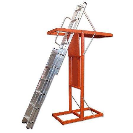 Escada Alumínio Alçapão Sótão 03 Lances (Alulev)