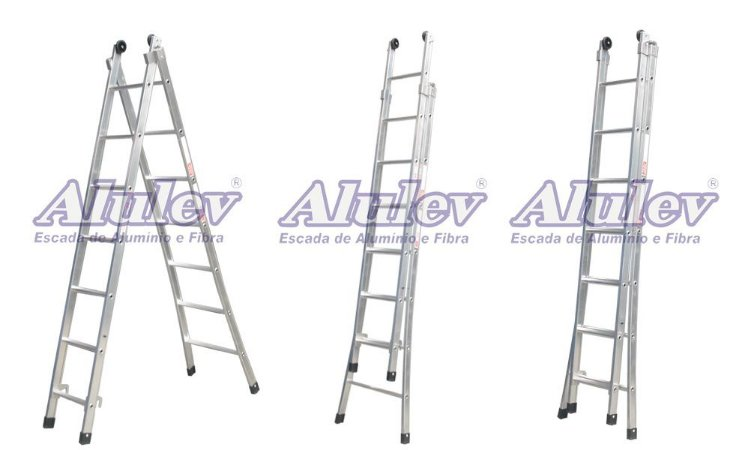 Escada Alumínio Dupla 10 Degraus Supra (Alulev)