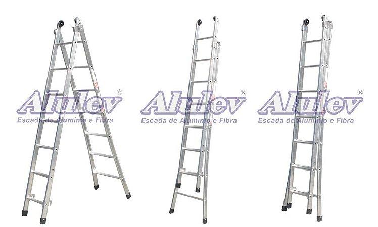Escada Alumínio Dupla 12 Degraus Supra (Alulev)