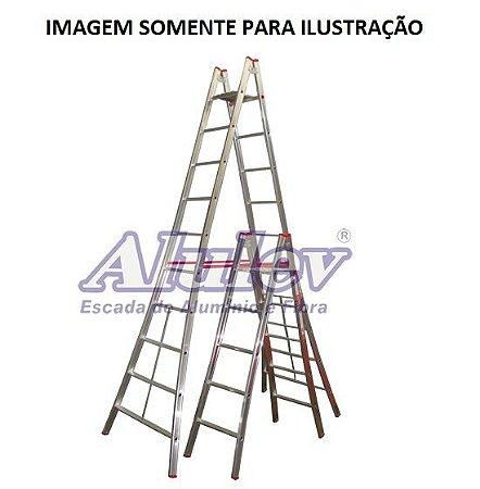 Escada Alumínio Pintor 09 Degraus - 3,00 M (Alulev)