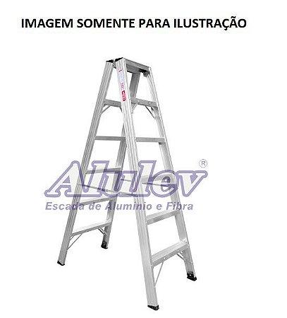 Escada Alumínio Comercial 14 Degraus S/ Alça 4,20 m (Alulev)