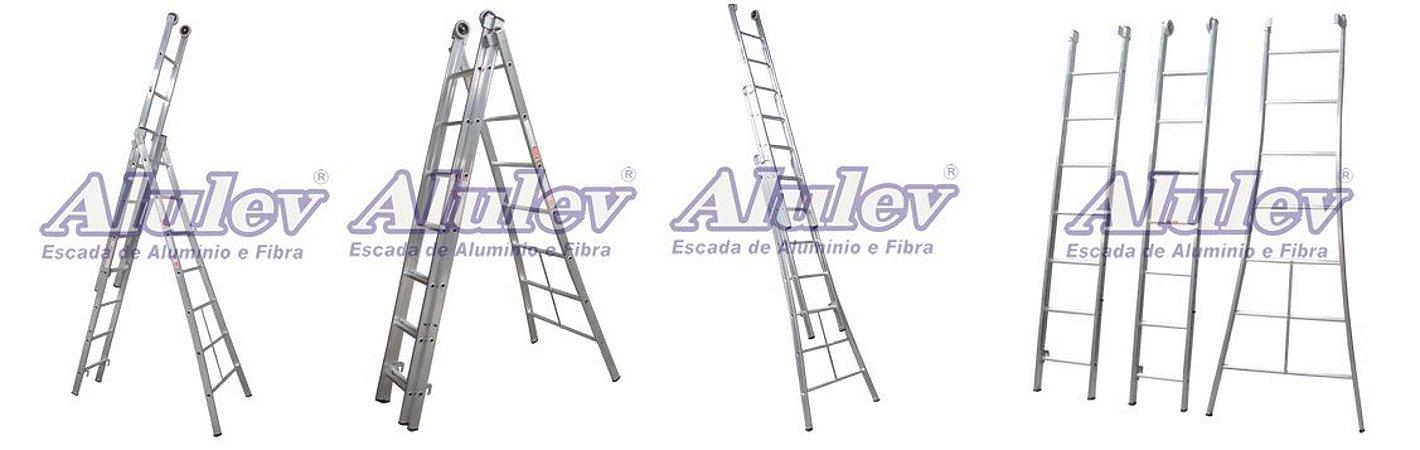 Escada Alumínio Girafa 09 Degraus (Alulev)