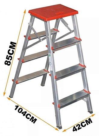 Escada Alumínio Banqueta Residencial  03 degraus (Art Factory)