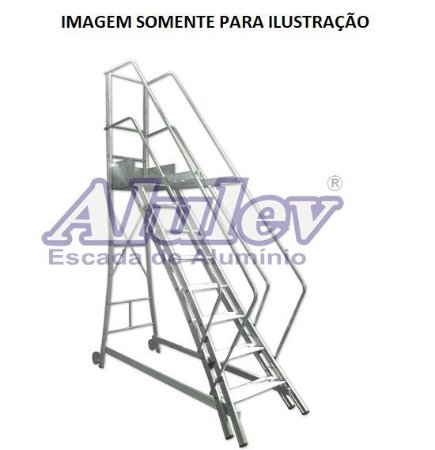 Escada Alumínio Trepadeira 1,86 m (Alulev)