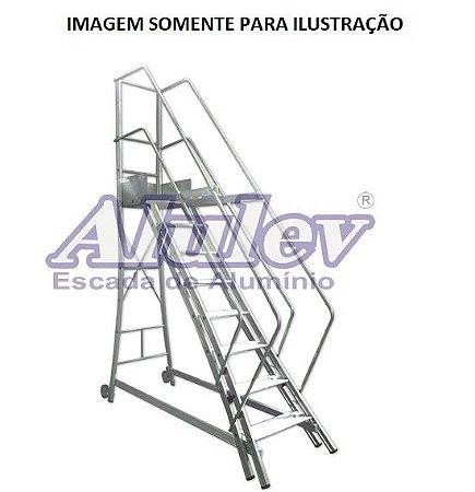Escada Alumínio Trepadeira 2,06 m (Alulev)