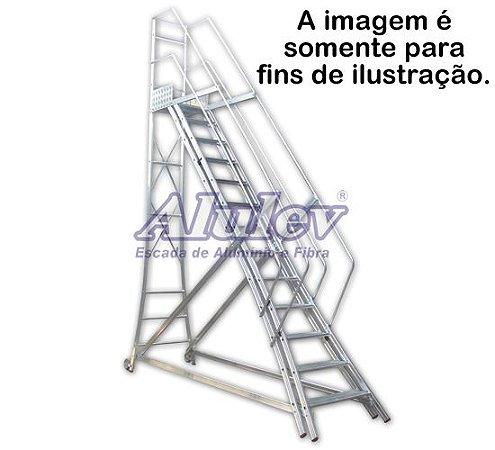 Escada Alumínio Trepadeira 3,55 m (Alulev)