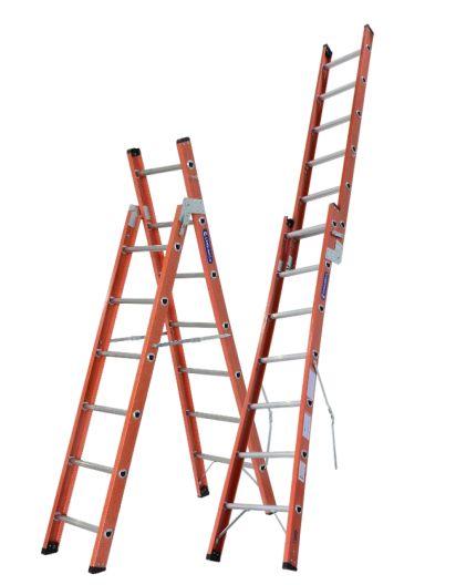 Escada Fibra Dobrável 08 Degraus (Cogumelo)