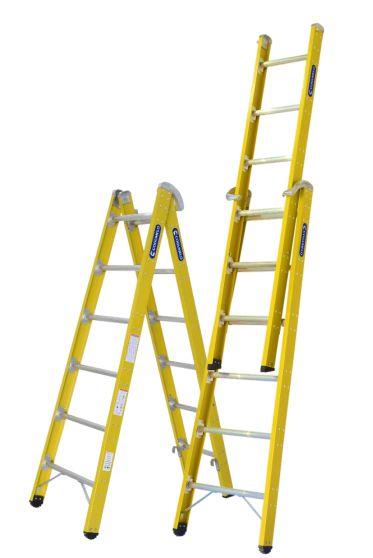 Escada Fibra Dupla 08 Degraus (Cogumelo)