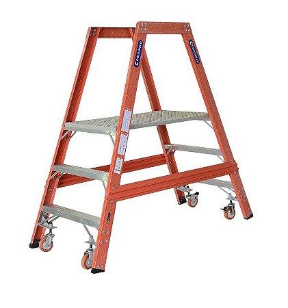 Escada Fibra Plataforma Trabalho 1,10 m (Cogumelo)
