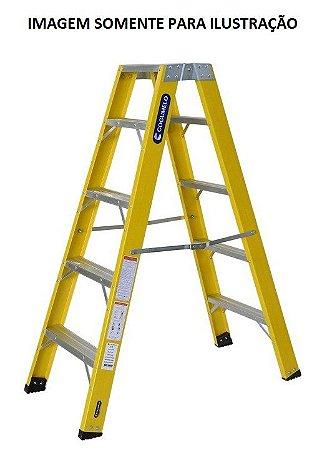 Escada Fibra Pintor 04 Degraus 1,35 m (Cogumelo)
