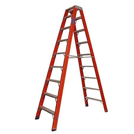 Escada Fibra Pintor 08 Degraus 2,55 m (Cogumelo)