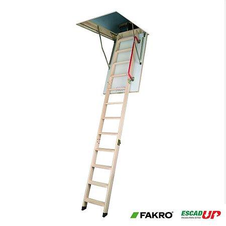 Escada Madeira Alçapão Sotão 0,60 x 1,30 x 3,05 LWK (Fakro)