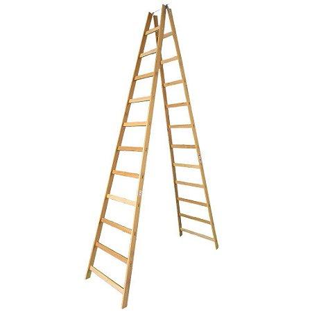 Escada Madeira Pintor Simples N°12 - 3,50 m Elite