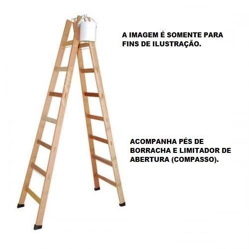 Escada Madeira Pintor Profissional N°07 - 2,00 M