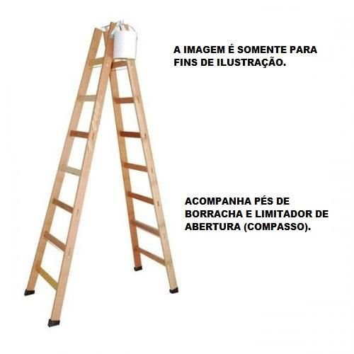 Escada Madeira Pintor Profissional Nº08 - 2,30 M