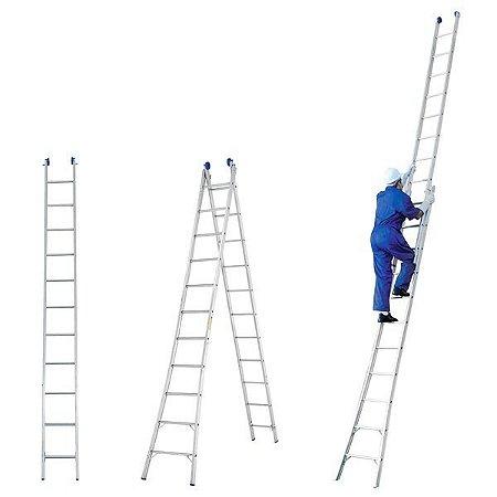 Escada Alumínio Dupla 10 Degraus Real Escadas
