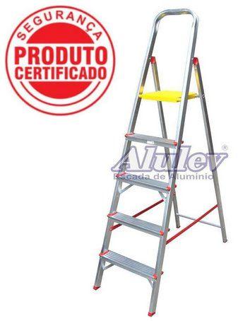 Escada Alumínio Doméstica Residencial 05 Degraus (Alulev)