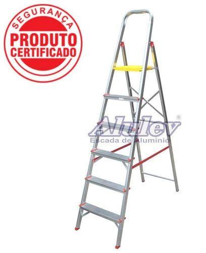 Escada Alumínio Doméstica Residencial 06 Degraus (Alulev)