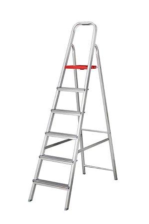 Escada Alumínio Doméstica Residencial 06 Degraus (Reisam)