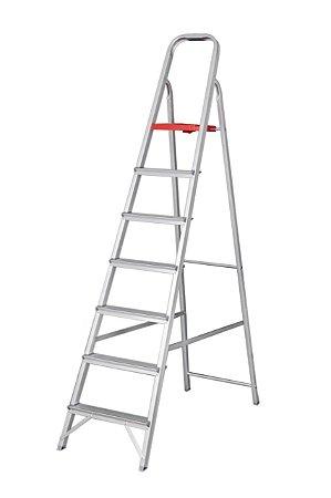 Escada Alumínio Doméstica Residencial 07 Degraus (Reisam)
