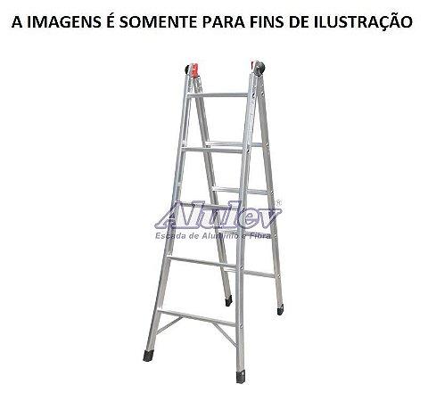 Escada Alumínio Dobrável 04 Degraus 1,40 x 2,70 m (Alulev)