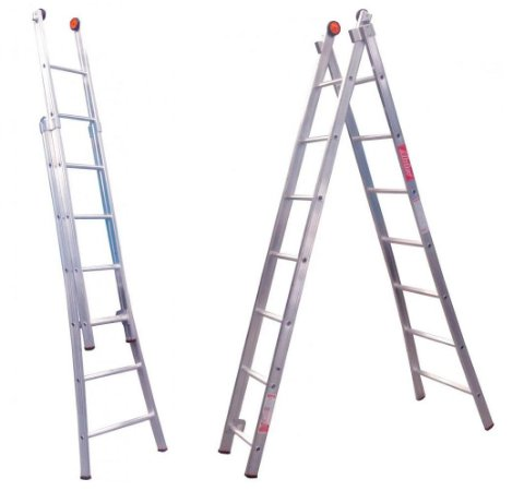 Escada Alumínio Dupla 09 Degraus (Alulev)