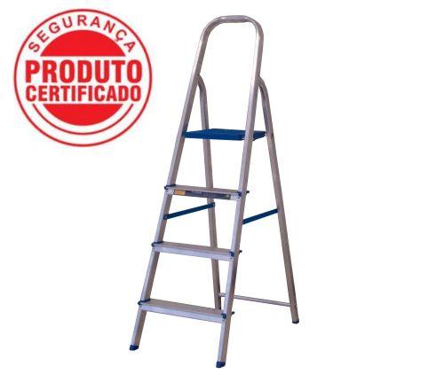 Escada Alumínio Doméstica Residencial 04 Degraus (Alumasa)