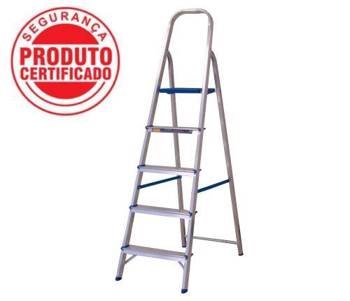 Escada Alumínio Doméstica Residencial 05 Degraus (Alumasa)