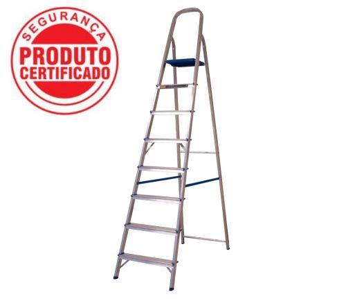 Escada Alumínio Doméstica Residencial 08 Degraus (Alumasa)