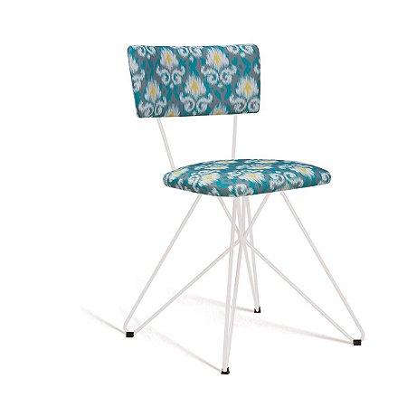 Cadeira Butterfly Estofada Cinza/Verde