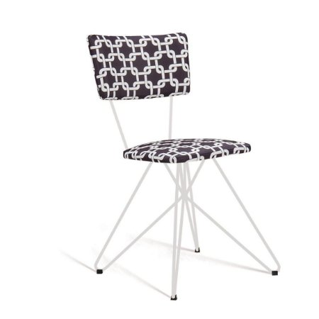 Cadeira Butterfly Estofada Preto/Branco Daf