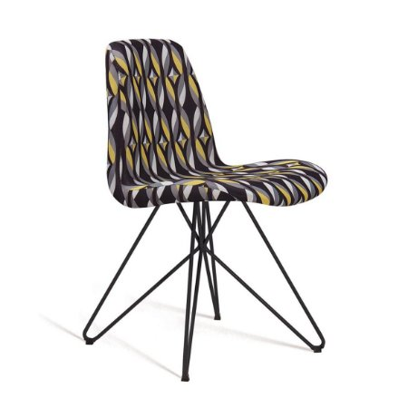 Cadeira Eames Butterfly Color Preto Daf