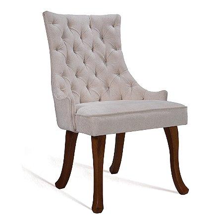 Cadeira Luis Xv B. Mad Castanho T1118 Chick Bege Cru