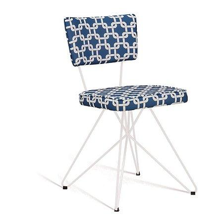 Cadeira Butterfly Retro Azul/Branco