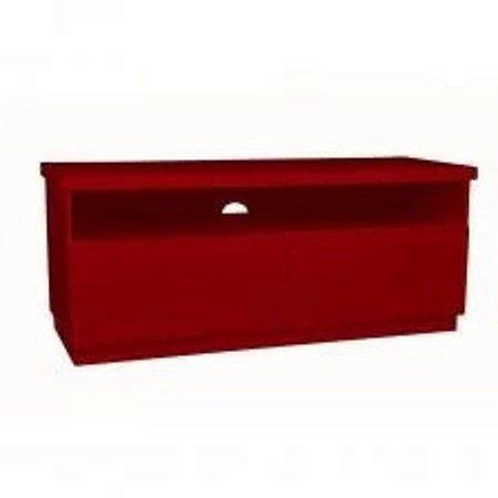 Rack Imperador 137 cm com 2 Gavetas Vermelho